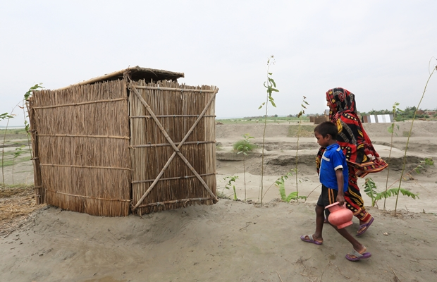 161,300 households were given access to a sanitary latrine